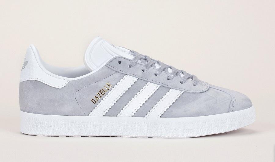 Sneakers en cuir nubuck gris Gazelle Adidas Originals - Baskets Monshowroom