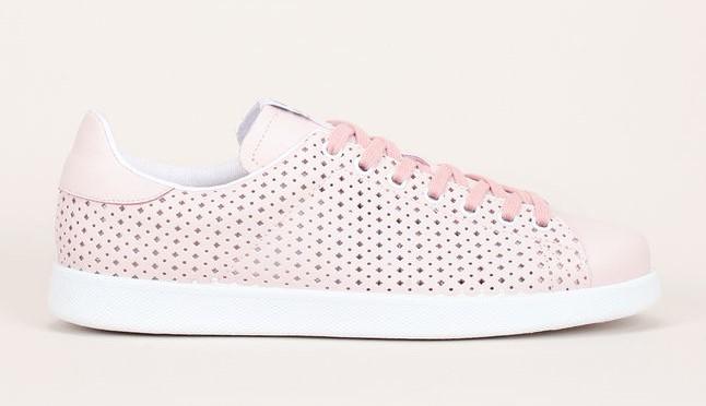Sneakers en cuir perforé rose Victoria - Baskets Femme Monshowroom