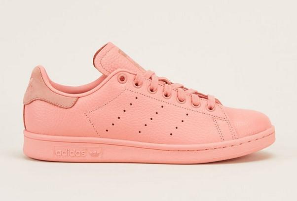 Adidas Originals Sneakers en cuir rose à lacets - Monshowroom