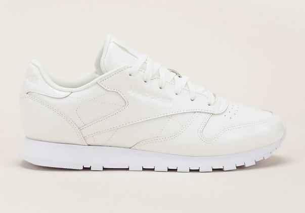 Reebok CL LTHR Patent Sneakers en cuir vernis blanc