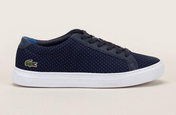 Lacoste Footwear Sneakers en textile bleu