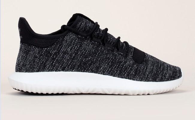 Sneakers gris chiné en toile texturée à empiècement Tubular Shadow Knit Adidas Originals - Baskets Femme Monshowroom