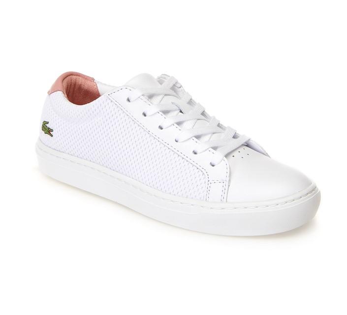 Sneakers L.12.12 Light-WT femme Lacoste en textile et cuir