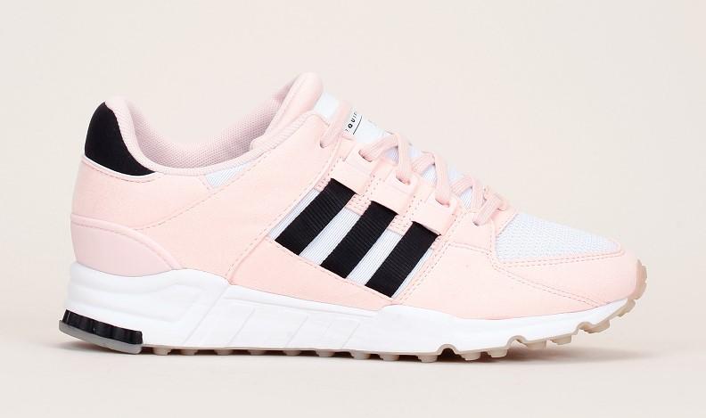 Adidas Originals Sneakers EQT Support RF multi-matières avec empiècements nubuck rose pâle/noir/blanc
