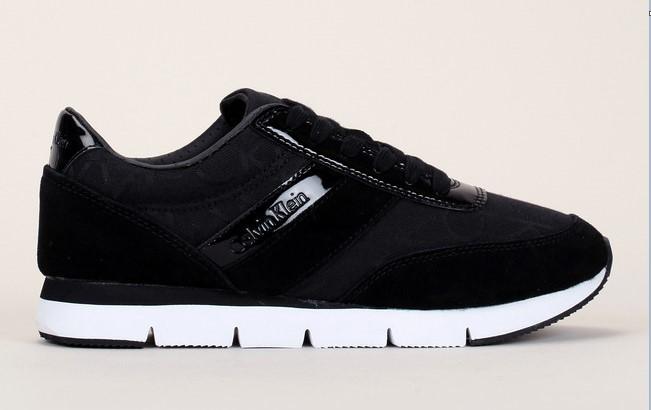 Sneakers noires Tea CK logo Calvin Klein Jeans, Baskets Femme Monshowroom