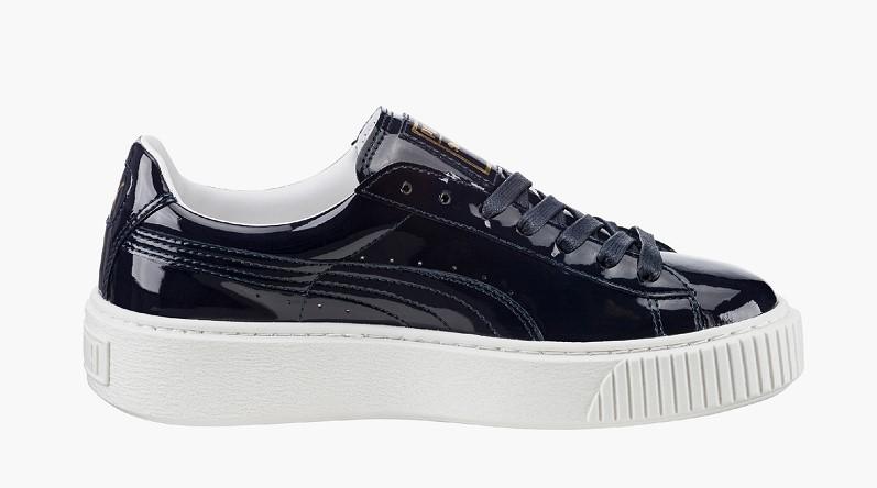 Puma Patent Sneakers plateformes vernies violet foncé - Monshowroom