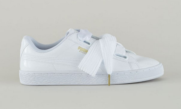 Puma Sneakers verni blanc Heart Patent Wn's - Monshowroom