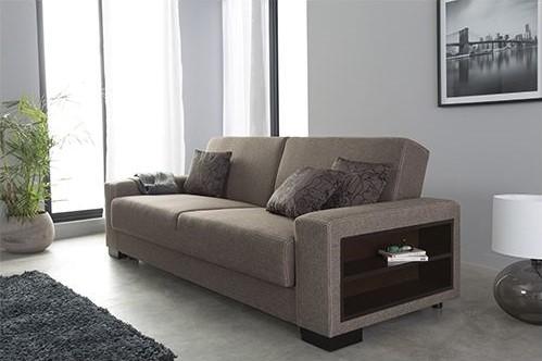 Sofa Story Canapé convertible Escalade Tissu Brun