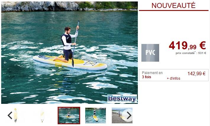 Stand up paddle FLOREANA de BESTWAY
