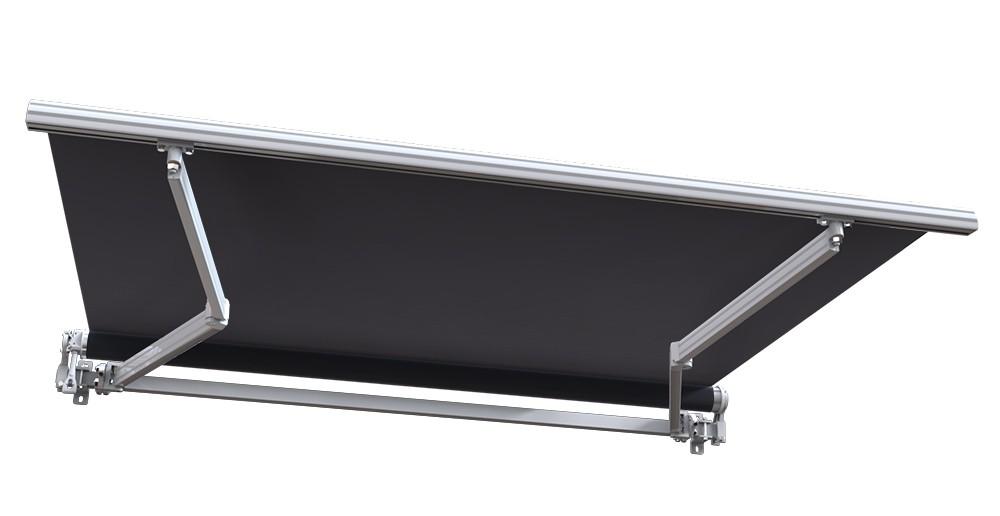 Store banne manuel Monobloc Sunny Inch pour terrasse Blanc métallisé Gris - ManoMano