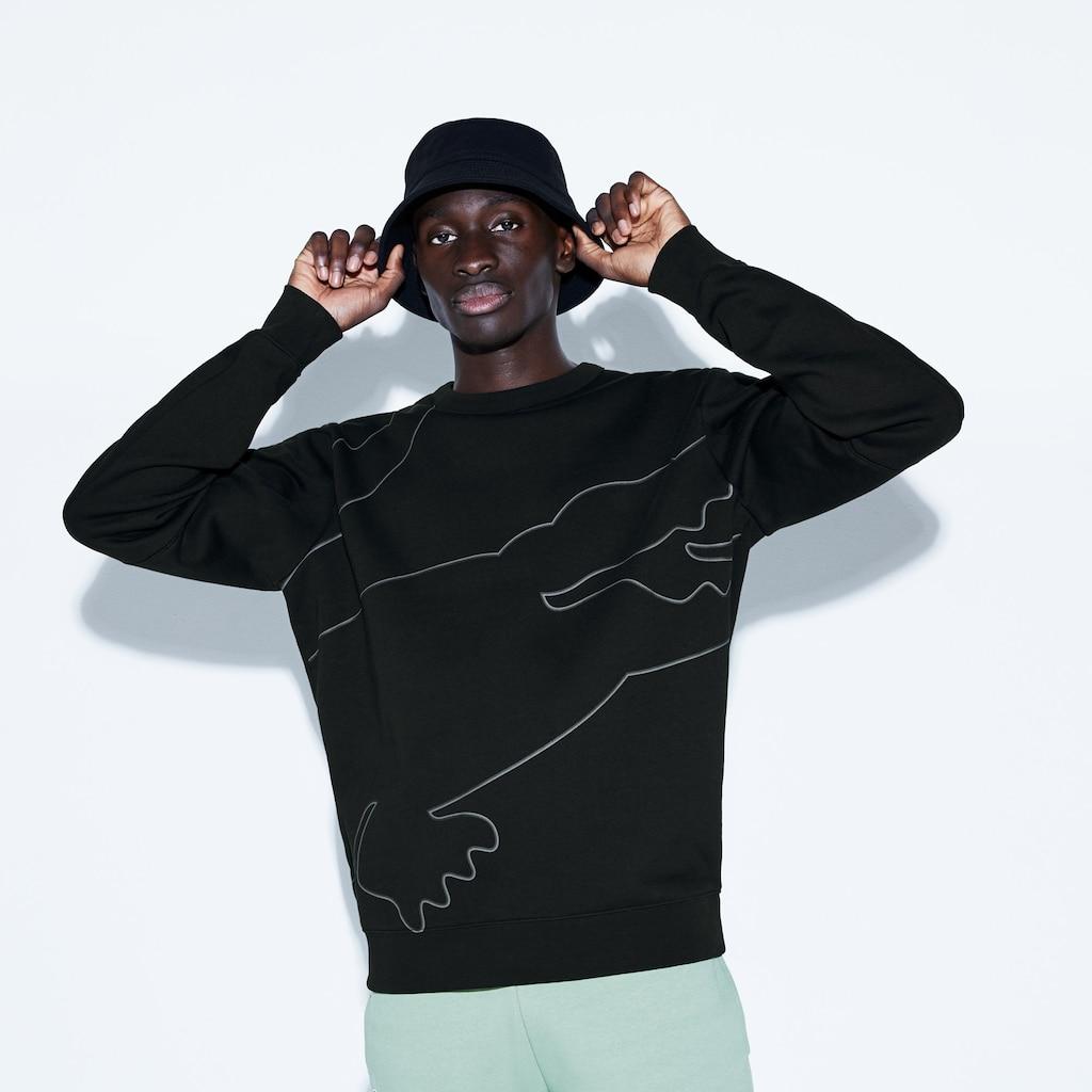 Sweatshirt Lacoste SPORT en molleton gratté avec maxi croco pour Homme