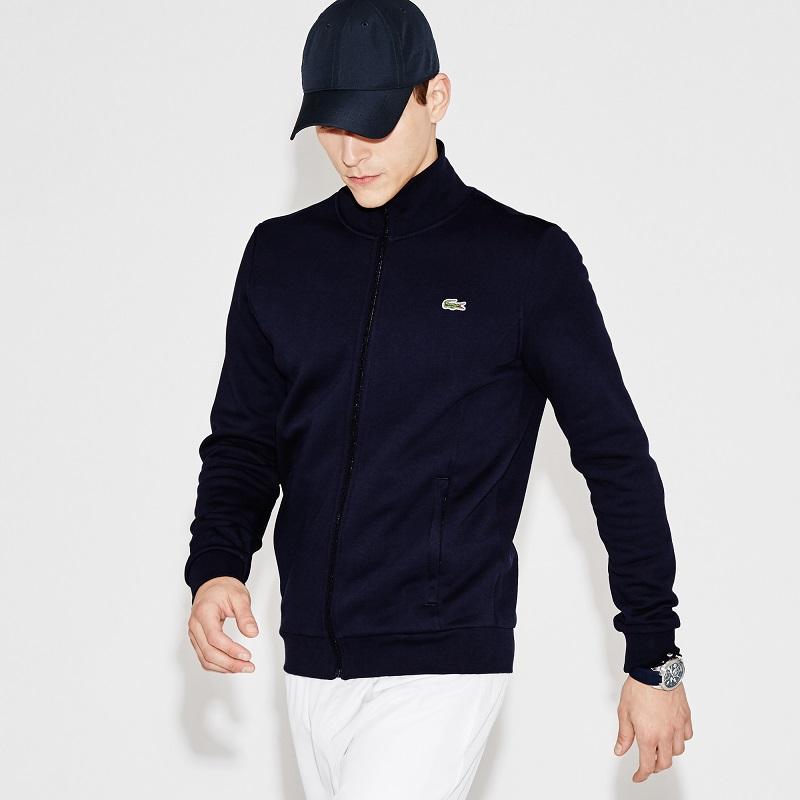 Sweatshirt Lacoste SPORT zippé en molleton pour Homme