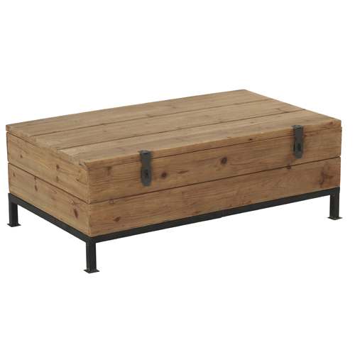 table basse sallanches coffre de rangement en bois et. Black Bedroom Furniture Sets. Home Design Ideas