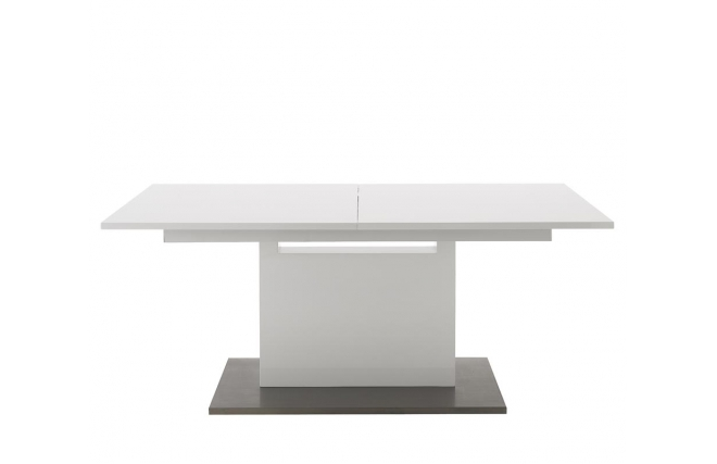 Table manger extensible design blanc aristo table - Table a manger industrielle pas cher ...