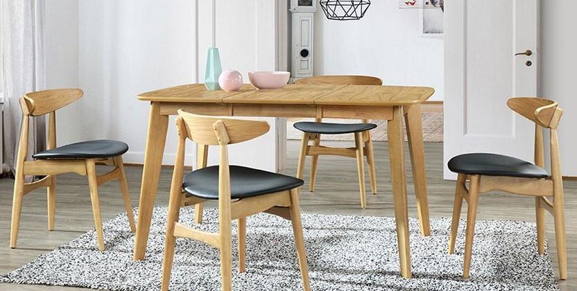 Table A Manger Extensible Scandinave Leena En Bois Clair Table A