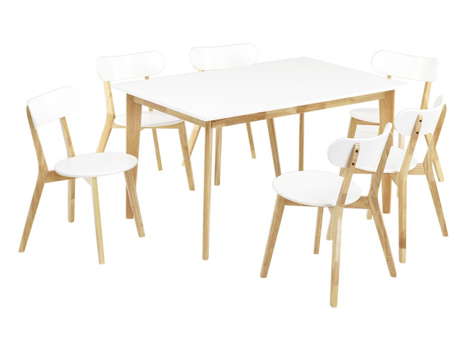 Ensemble table carine 6 chaises colette table manger for Table 6 chaises