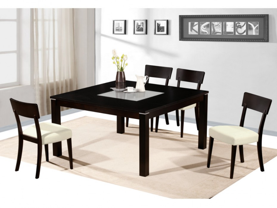 ensemble table 4 chaises mantala table manger vente. Black Bedroom Furniture Sets. Home Design Ideas