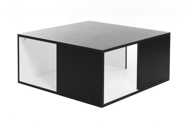 Table basse pas cher milibo table basse design cubik s - Table noire et blanche ...