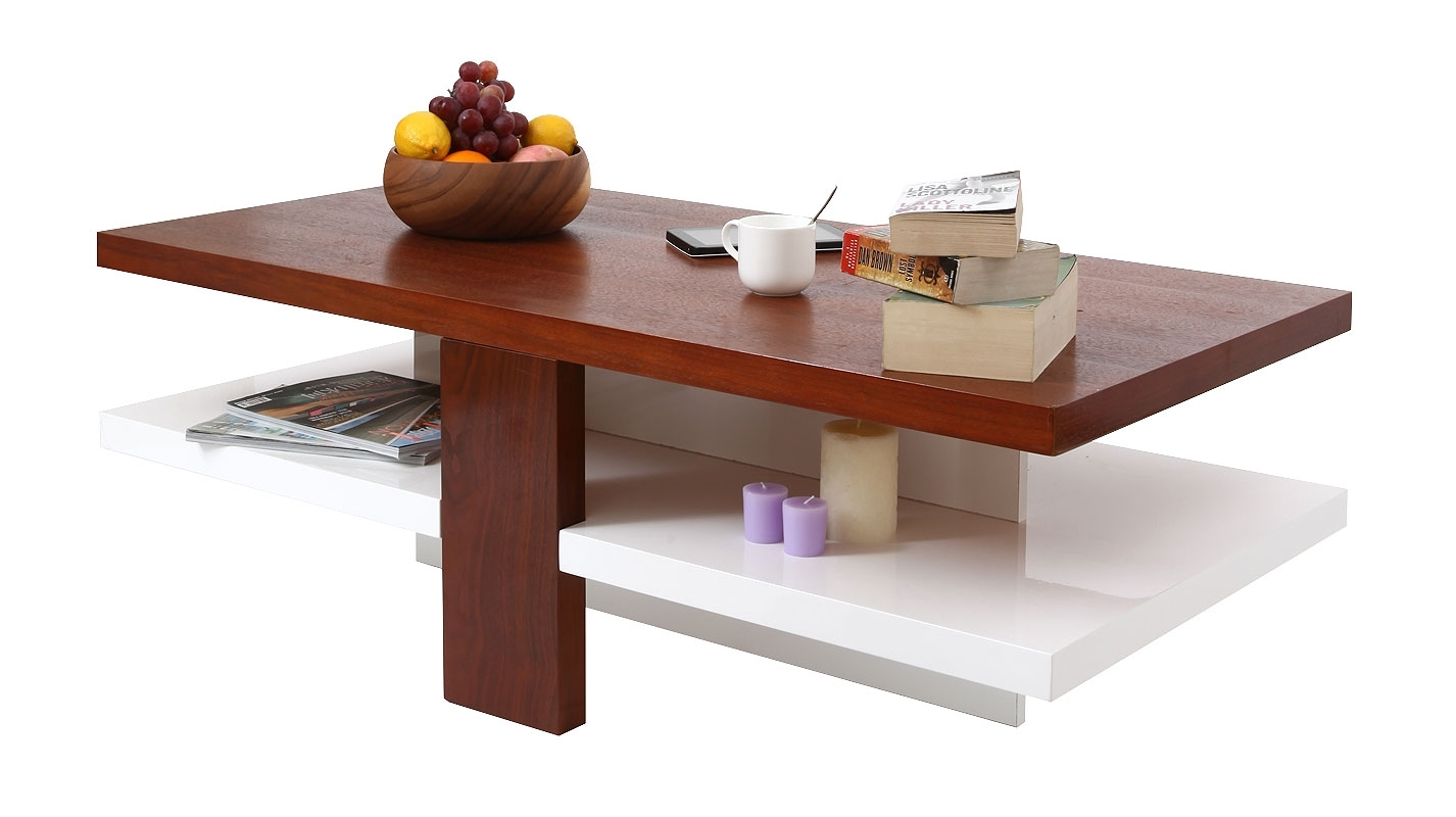 Table basse miliboo table basse design laqu e blanche et for Table blanche et bois