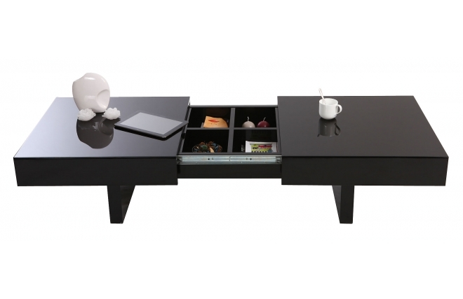 Soldes table basse miliboo table basse design gissy - Table basse design noire ...