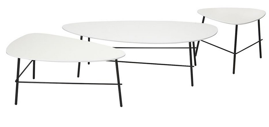 Table basse design métal blanc BLOOM