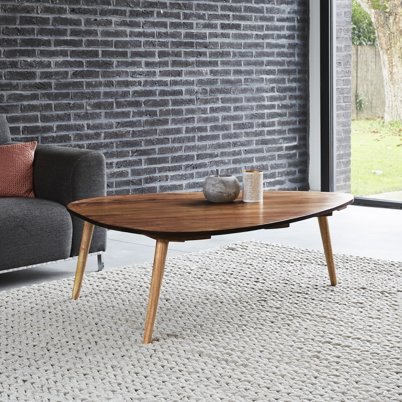 Table basse en bois de mindy 120 OSLO - Table Basse Bois dessus bois dessous