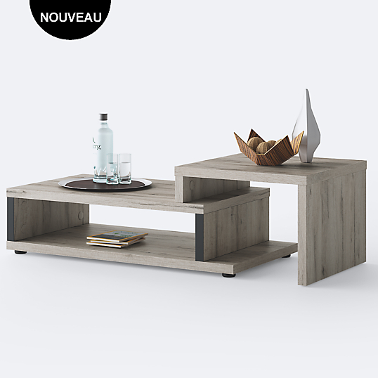 table basse extensible durban camif table basse camif ventes pas. Black Bedroom Furniture Sets. Home Design Ideas