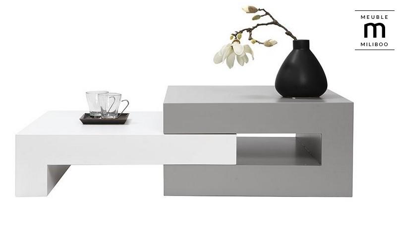 Table basse design laqu e extensible luna table basse - Tables basses design pas cher ...