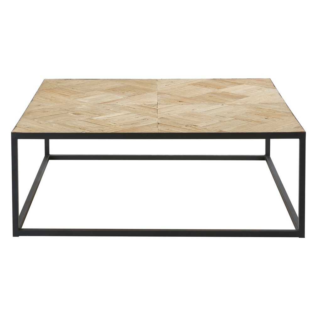 table basse marquet e camus en orme recycl et m tal noir table basse maisons du monde. Black Bedroom Furniture Sets. Home Design Ideas