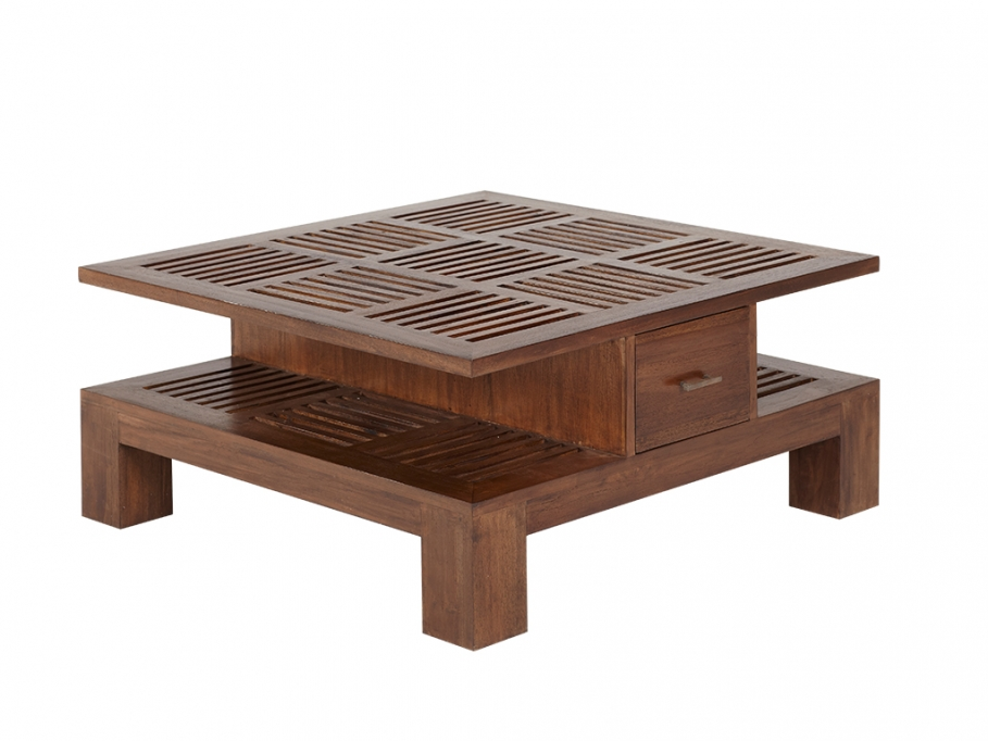 Table basse bali ii 2 tiroirs table basse vente unique - Table basse pas cher ...