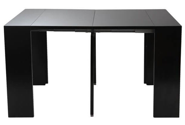 table console extensible caleb laqu e noir mat table. Black Bedroom Furniture Sets. Home Design Ideas