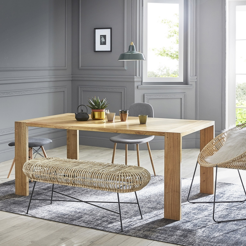 table en bois de mindy 180 tilo table bois dessus bois dessous ventes pas. Black Bedroom Furniture Sets. Home Design Ideas