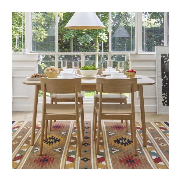 Losange Table de salle à manger extensible en chêne Habitat