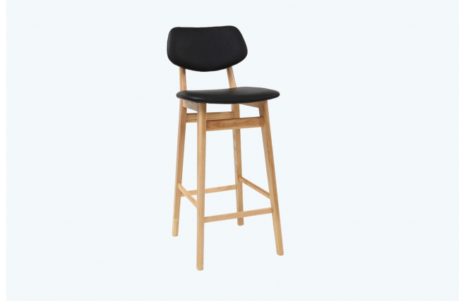 Tabouret chaise de bar design nordeco tabouret de bar for Chaise noire et bois