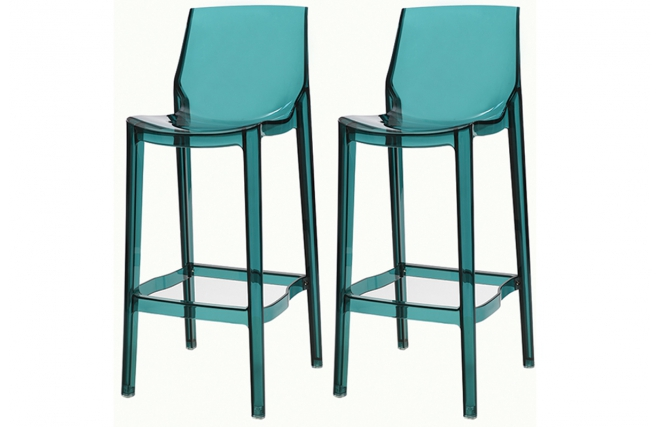 tabouret de bar design ylak bleu transparent tabouret de. Black Bedroom Furniture Sets. Home Design Ideas