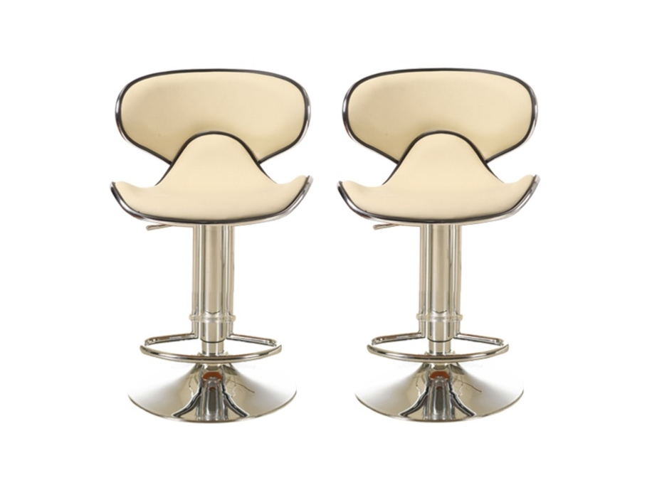 Lot de 2 tabourets de bar luna beige tabouret de bar vente unique ventes - Lot tabouret de bar pas cher ...