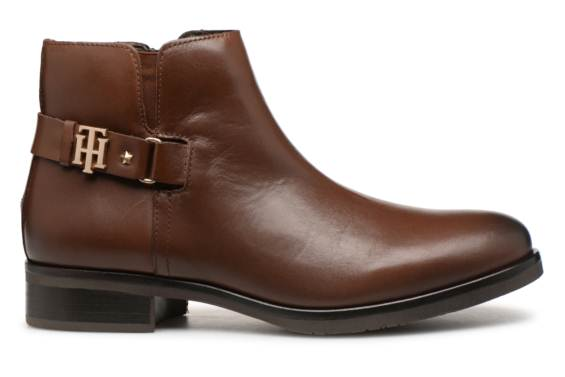 Tommy Hilfiger TH BUCKLE LEATHER BOOTIE Boots Marron