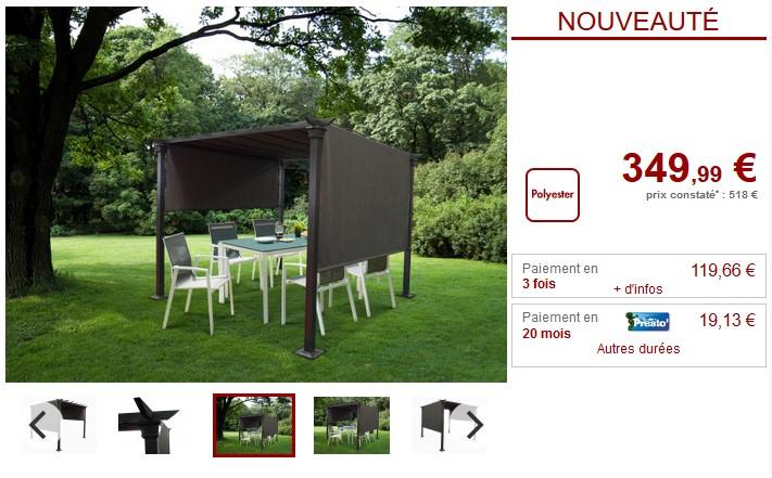 Achat/Vente tonnelle sur - Ventes-pas-cher.com