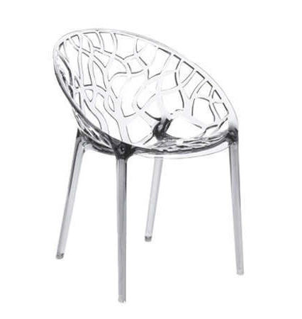 Chaise design en plastique transparent crystal chaises for Chaises plastique pas cher