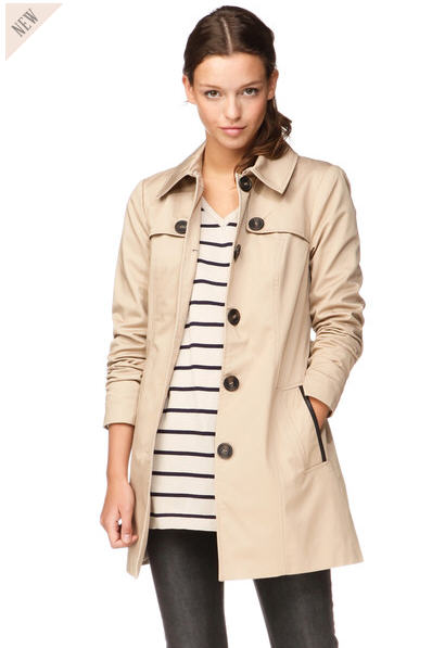 trenchcoat 3 4 joy beige vero moda trench femme. Black Bedroom Furniture Sets. Home Design Ideas