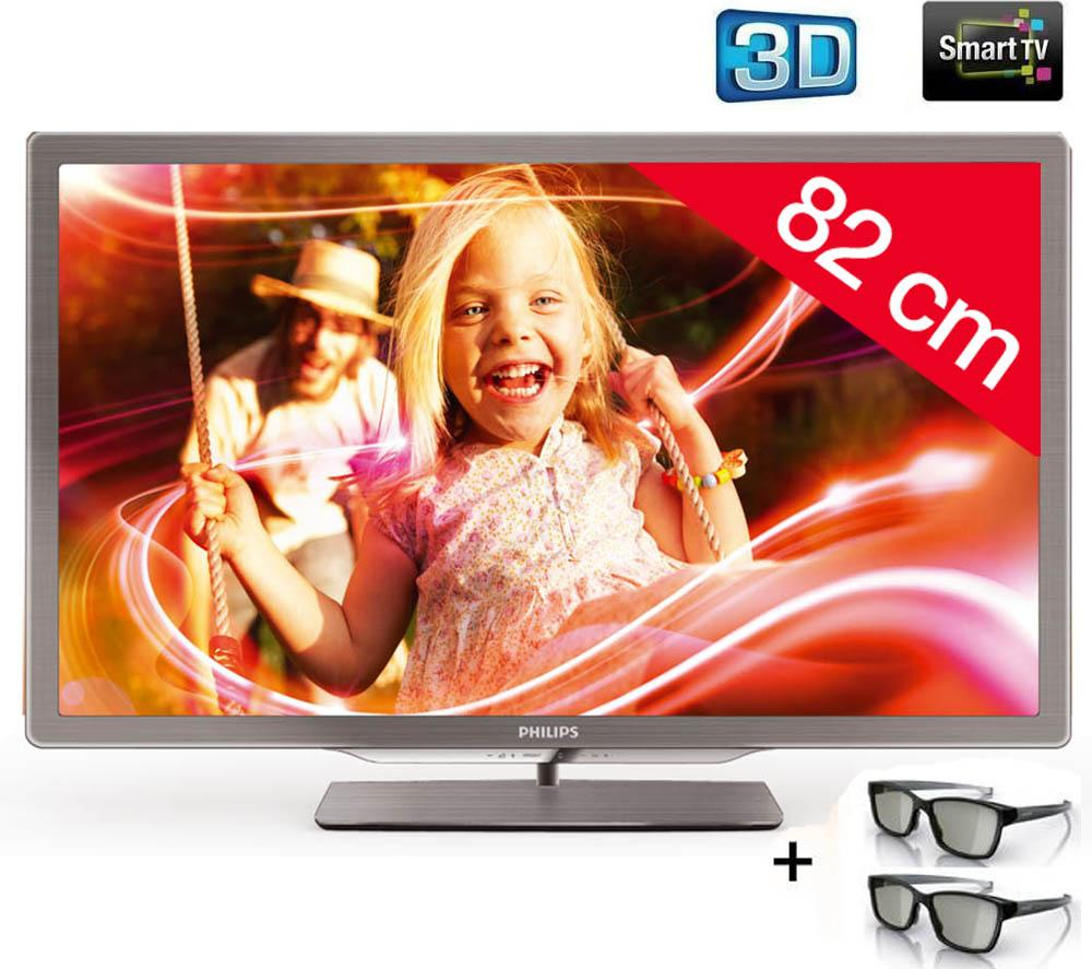 Tv led 3d carrefour t l viseur led 3d 32pfl7606h philips - Televiseur pas cher but ...