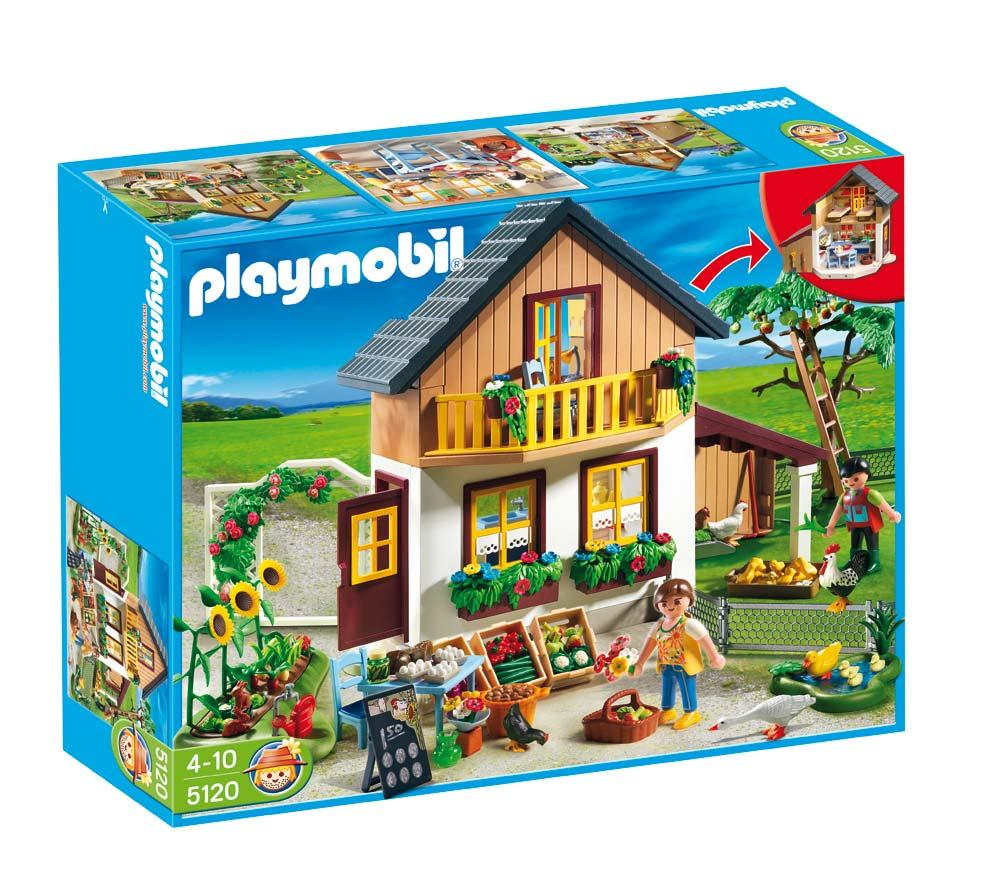 jouets carrefour playmobil 5120 maison des fermiers et. Black Bedroom Furniture Sets. Home Design Ideas