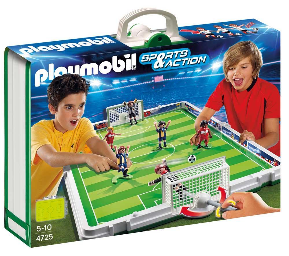 jouets garcon carrefour pas cher terrain de football et joueurs playmobil