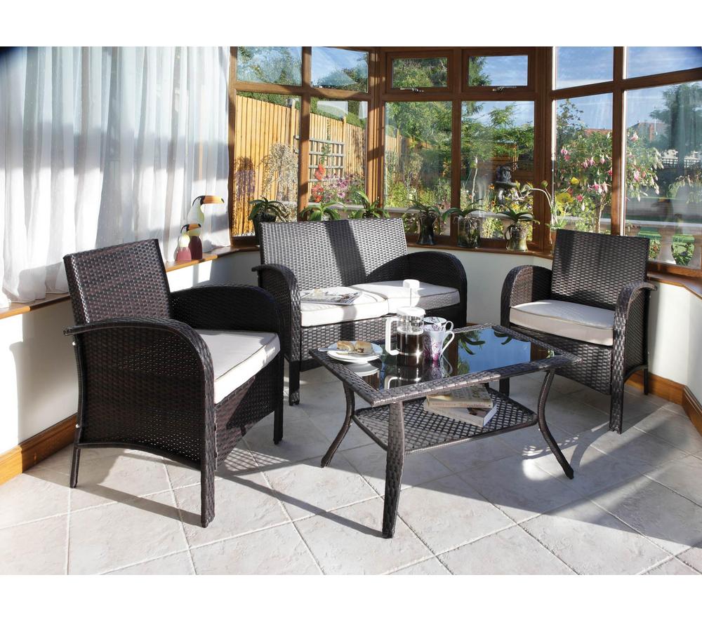 Salon de jardin Carrefour - IDEANATURE Salon Sorrento prix 549,00 euros - Ventes-pas-cher.com
