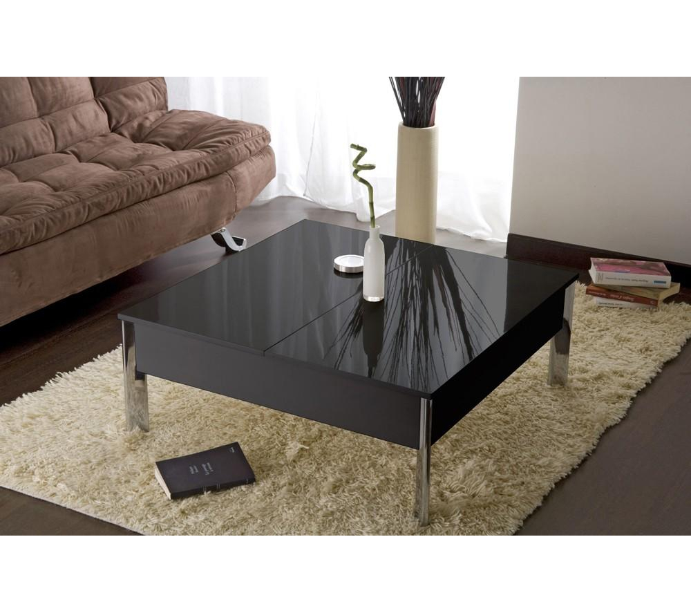 table basse carrefour pas cher table basse carr e up down noir ventes pas. Black Bedroom Furniture Sets. Home Design Ideas