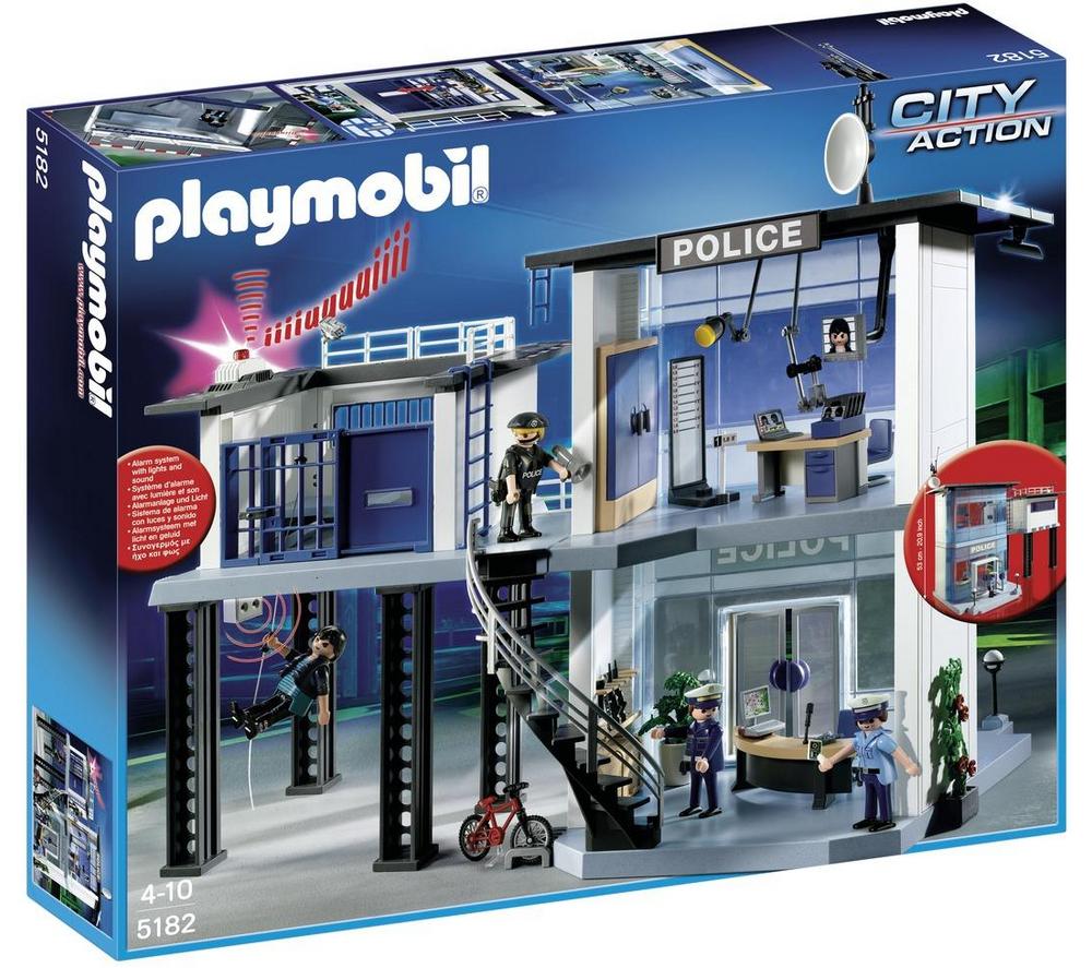 playmobil commissariat de police jouets carrefour