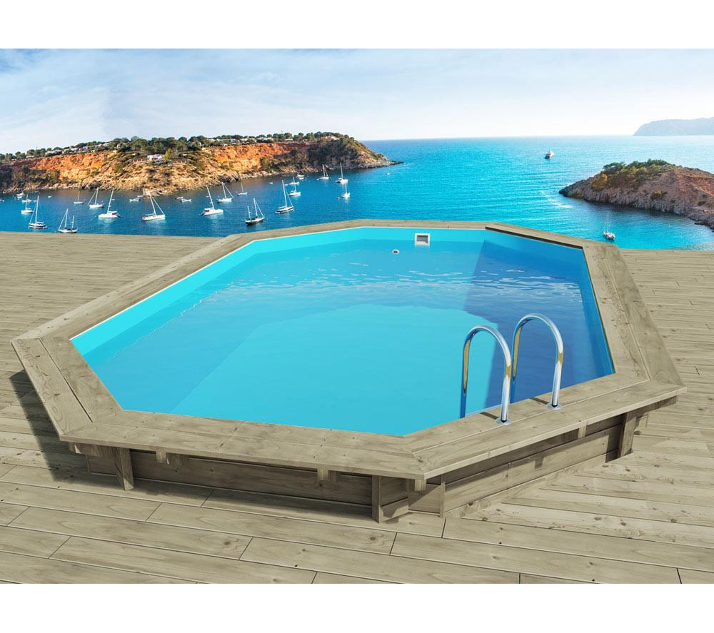 Piscine carrefour habitat jardin piscine miami en bois for Piscine rectangulaire pas cher