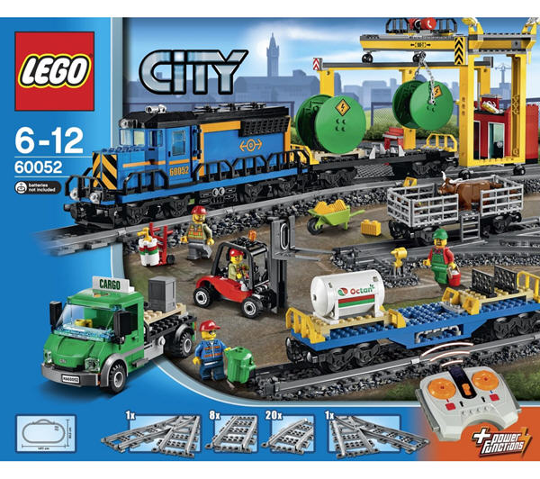 lego city le train de marchandises 60052 lego carrefour ventes pas. Black Bedroom Furniture Sets. Home Design Ideas