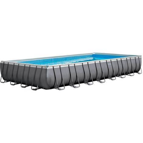 Piscine tubulaire Ultra Silver rectangulaire Intex 9,75 x 4,88 x 1,32 m