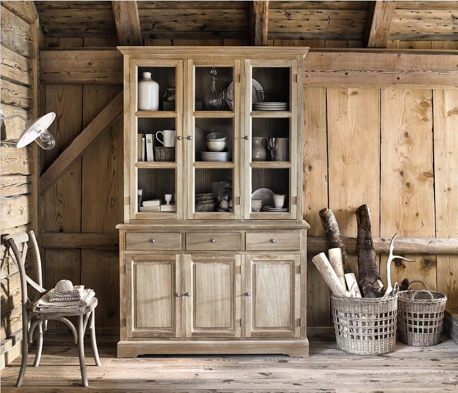 Vaisselier 6 portes 3 tiroirs CAVAILLON en paulownia - Maisons du Monde